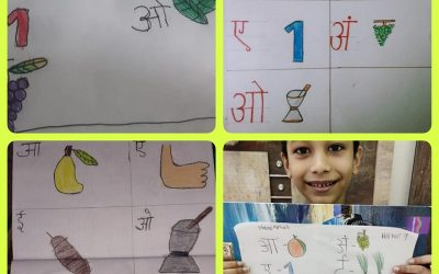 Tiny tots of Std I learning Hindi and Marathi by exploring themselves in colorful way!